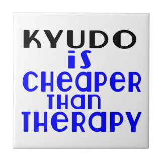 Kyudo Is Cheaper  Than Therapy Small Square Tile