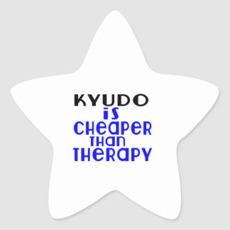 Kyudo Is Cheaper  Than Therapy Star Sticker