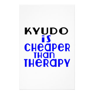 Kyudo Is Cheaper  Than Therapy Stationery