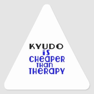 Kyudo Is Cheaper  Than Therapy Triangle Sticker