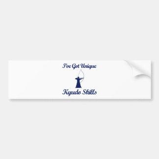 kyudo martial art designs bumper sticker