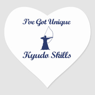 kyudo martial art designs heart sticker