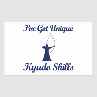 kyudo martial art designs rectangular sticker