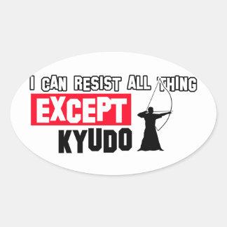 Kyudo martial design oval sticker