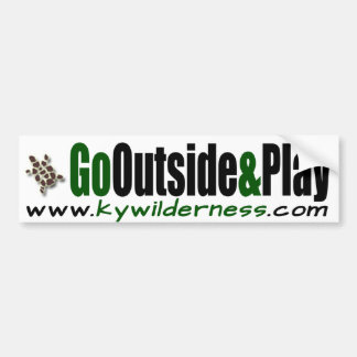 KYWilderness Go Outside & Play Bumper Sticker