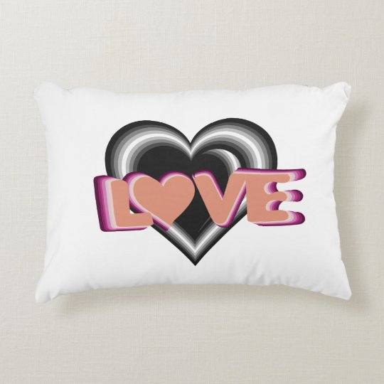 L<3VE home decor with hearts Decorative Cushion