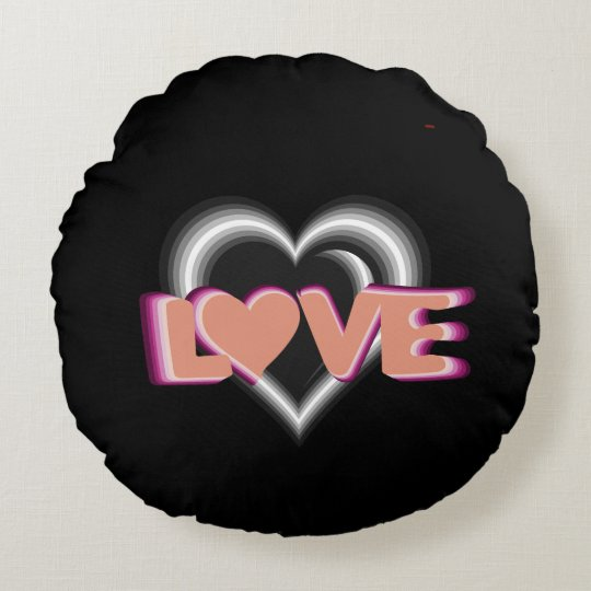 L<3VE home decor with hearts Round Cushion