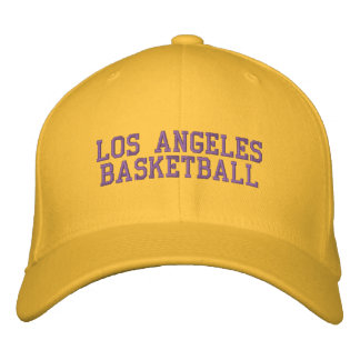 L.A.  BASKETBALL EMBROIDERED HAT