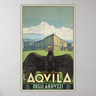 L Aquila Degli Abruzzi Poster