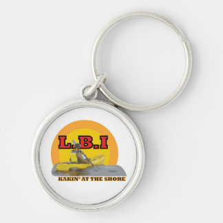 L.B.I Kakin' At The Shore Silver-Colored Round Key Ring