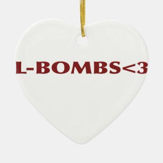 L-BOMBS<3 CERAMIC HEART DECORATION