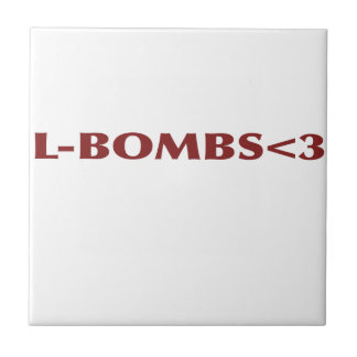 L-BOMBS<3 SMALL SQUARE TILE