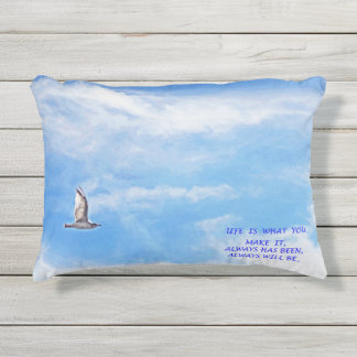 L I F E outdoor pillow