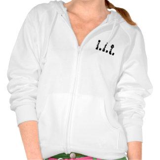l.i.t. logo hoodie (small womens)