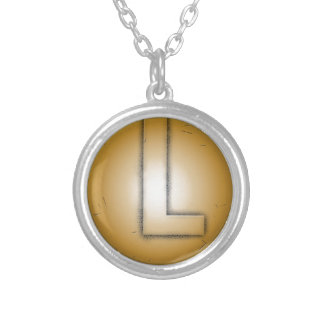L initial letter personalized necklace