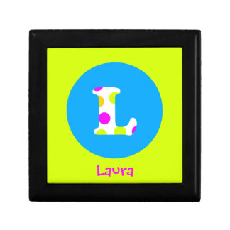 L Initial Personalized Name Girls Jewelry Box