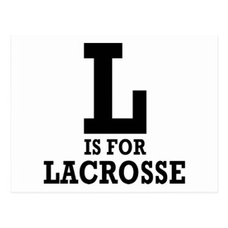 L is for Lacrosse Postcard