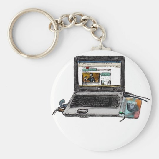 L is for Laptop Key Ring