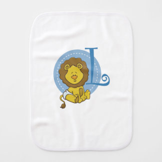 L is for Lion Burp Cloth