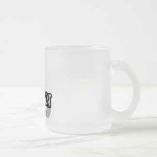 L is for Logan Frosted Glass Coffee Mug