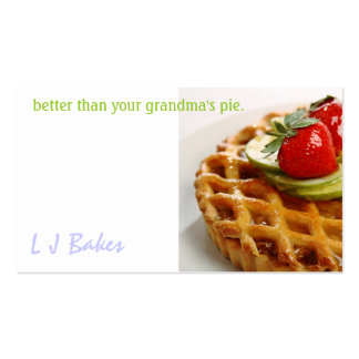 L J Bakes Business Card