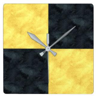 L Lima Watercolor Nautical Signal Maritime Flag Square Wall Clock