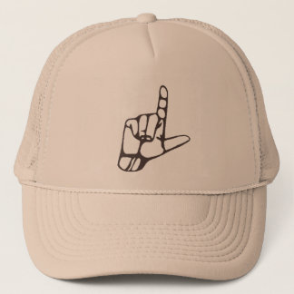 L loser hand hat
