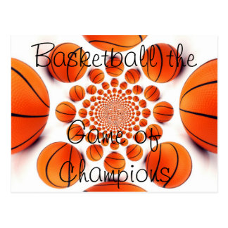 l Love Basketball the Game of Champions Postcard