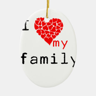 l love my family ceramic oval decoration
