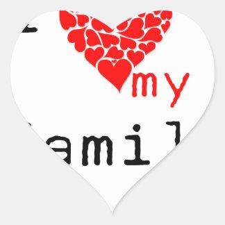 l love my family heart sticker