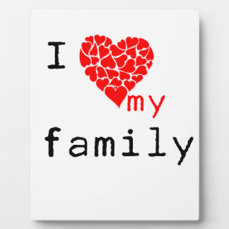 l love my family photo plaques