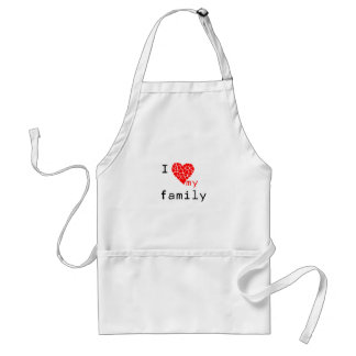 l love my family standard apron