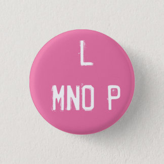 'L MNOP' Alphabet Collectible (#12) 3 Cm Round Badge
