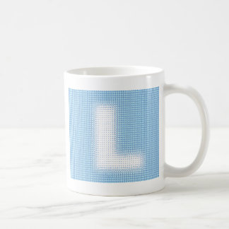 L Monogram Basic White Mug