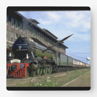"""L&N 4-6-2 with """"Flying Scotsman_Trains Square Wall Clock"""
