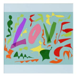 L.o.v.e Acrylic Wall Art