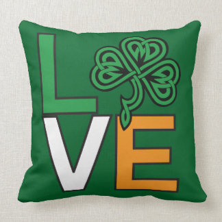 L.O.V.E Cute Irish Celtic Shamrock Reversible Cushions