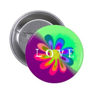 L O V E Flower Pins