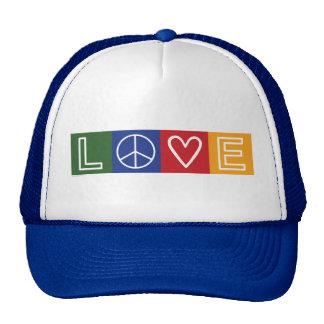 L-O-V-E -  Heart and Peace Sign Cap