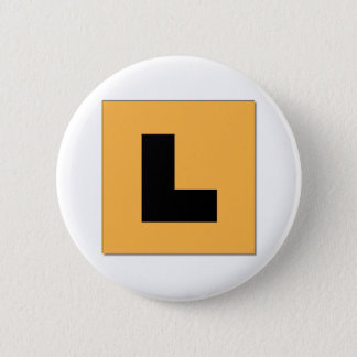 L Plates (black/yellow) 6 Cm Round Badge