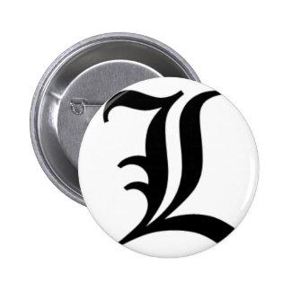 L-text Old English Pins