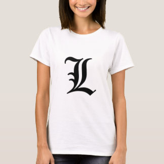 L-text Old English T-Shirt