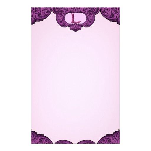 L - The Falck Alphabet (Pink) Stationery Design