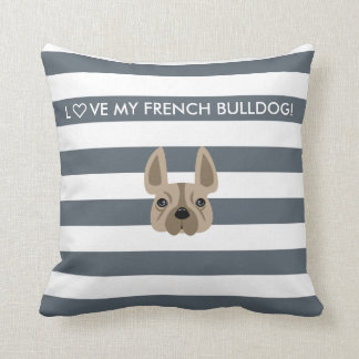 L♡VE MY FRENCH BULLDOG! DECORATIVE PILLOW
