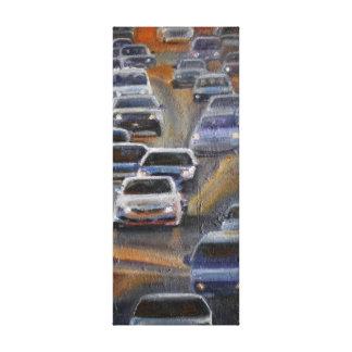 LA 6 O'clock Traffic Canvas Print