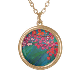 """la alegría"" art by Beth Wellesley Gold Plated Necklace"