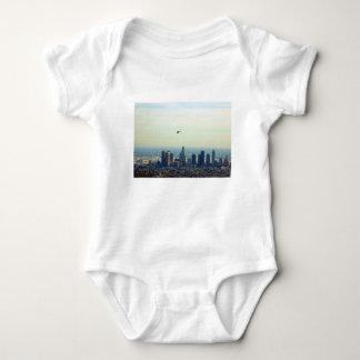 LA and helo Baby Bodysuit
