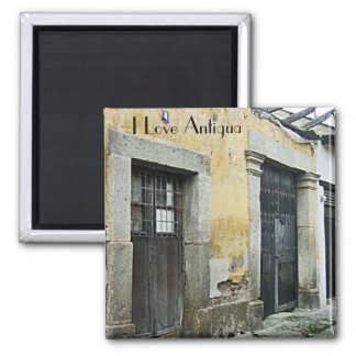 La Antigua 1 Square Magnet