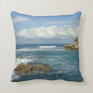 La Badie Coastal Seascape Throw Pillow