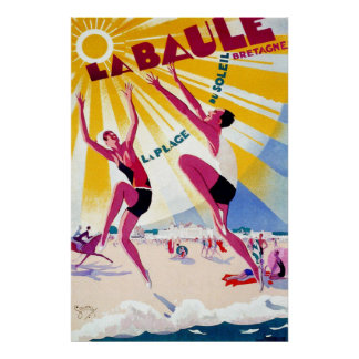 La Baule Vintage French Travel Poster